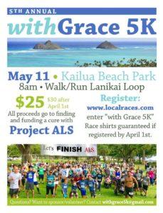"5th Annual ""With Grace"" Run/Walk/Roll @ Kailua Beach Park"